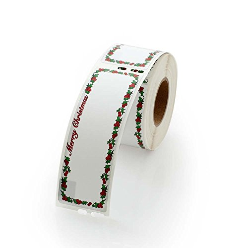 Merry Christmas Address Labels - 1 Roll, 130 Labels Per Roll Dymo Compatible