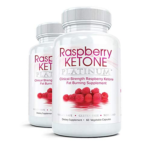 Raspberry Ketone Platinum Weight Loss Pills and Fat Burner | Natural, Pure, Extra Strength Metabolism Booster and Appetite Suppressant To Melt Away Belly Fat | 2 Bottles, 60 Vegetarian Capsules Each