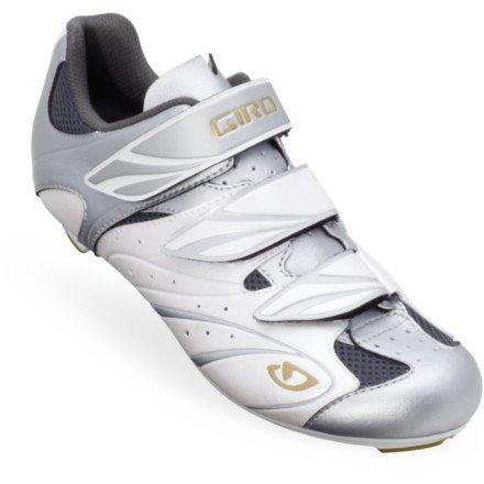 Giro 2013 Women's Sante Road Bike Shoes (White/Silver/Gold - 42.5)