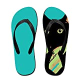 Unisex Summer Beach Slippers Business Cat Flip-Flop Flat Home Thong Sandal Shoes