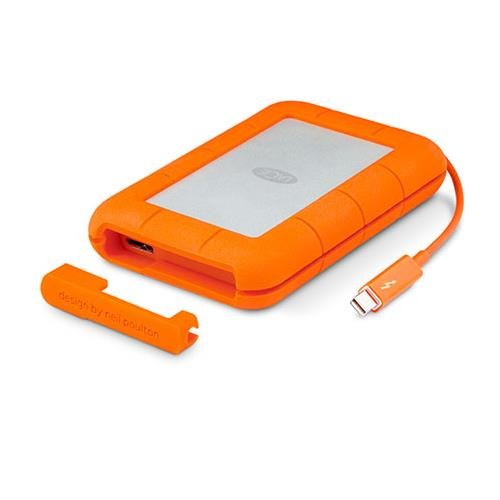 LaCie Rugged 2TB Thunderbolt and USB 3.0 Portable Hard Drive (LAC9000489) by LaCie