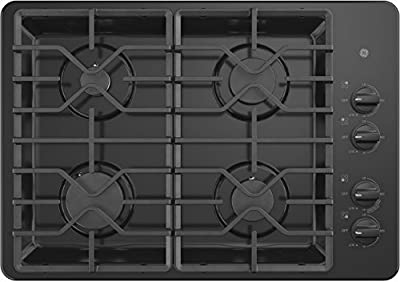 GE JGP3030DLBB 30 Inch Natural Gas Cooktop with 4 Sealed Burners, ADA Compliant, in Black