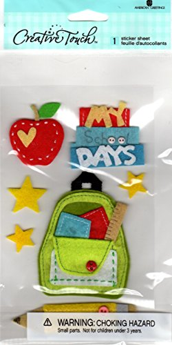 Dimensional Stickers Felt - Creative Touch School Days Felt Dimensional Scrapbook Stickers (86964)
