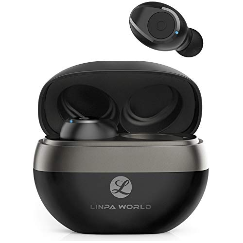 Wireless Earbuds, Upgraded 5.0 Bluetooth Earbuds with 35 Hours Playtime Linpa World T2, Binaural Call with CVC6.0 Noise Reduction, HiFi CD-Like Sounds Portable Wireless Earbuds with Charging Case
