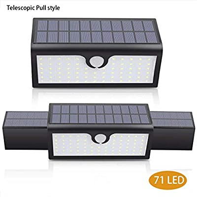 Carl Artbay Solar Lights Outdoor Motion Sensor, Super Large Solar Panel Lighting 71pcs LED Garden Decorative Lights Waterproof Wall Light Solar Powered Security Light for Patio Yard Garage