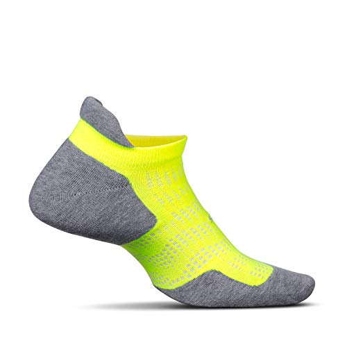 Feetures - High Performance Cushion - No Show Tab - Athletic Running Socks for Men and Women - Reflector - Size Small