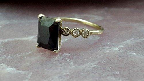 tangle black ring,onyx ring,sterling silver ring,brillant ring,wedding ring,engagement ring ()