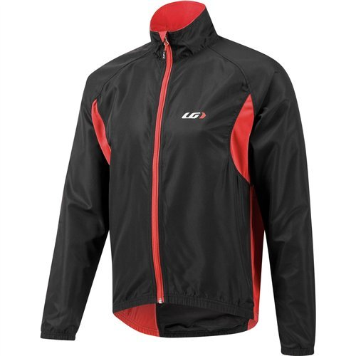 Louis Garneau Modesto Jacket 2 - Men's Black/Red, (Mens Technical Cycling Jackets)
