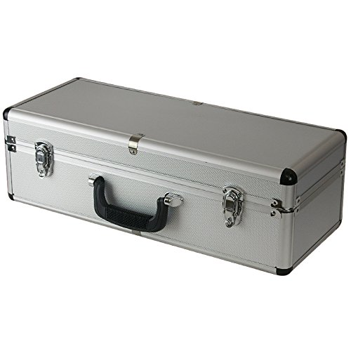 SRA Cases EN-AC-FG-C401 Silver Aluminum Hard Case for Camera, Guns, Electronics, 21.7 x 8.6 x 7 - Hard Aluminum Case
