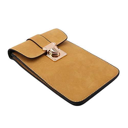 Girls Single Cellphone Women Pouch Phone Fit Classic Women Universal for Girls Sevenfly Bag Crossbody Mini Shoulder Yellow EAq4wY