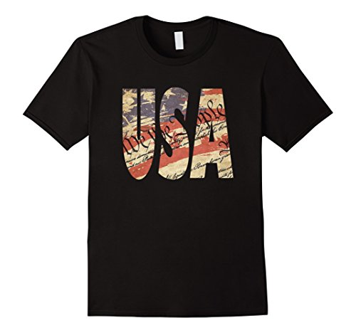 Patriotic USA July 4th Flag We the People T-Shirt