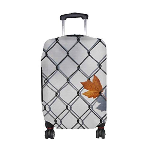 (Maple Leaf Fence Grille Pattern Print Travel Luggage Protector Baggage Suitcase Cover Fits 18-21 Inch Luggage)