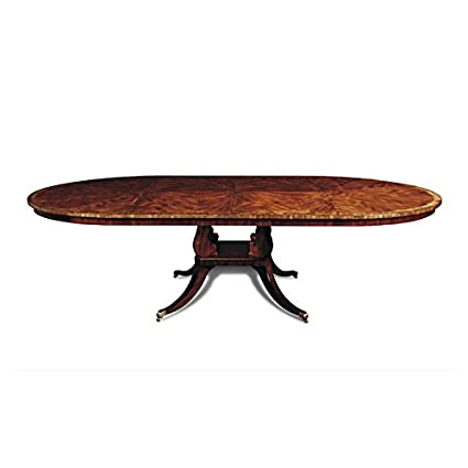 Amazoncom Inch Traditional Round To Oval Dining Table Made Of - Traditional oval dining table