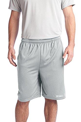 Sport-Tek Men's PosiCharge Tough Mesh Pocket Short M Silver