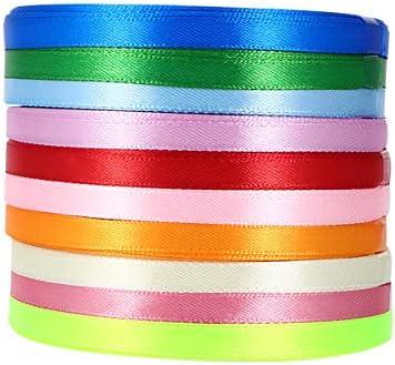 Stoffen Lint 10 Rolls DIY Cadeaupapier Linten Polyester Decoratief Lint Bruiloft Grosgrain
