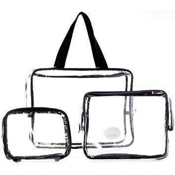 3246a88d6f1b LaRoc 3 Piece Clear Cosmetic Bag Set  Amazon.co.uk  Beauty