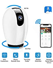 DIGOO IP Camera,WiFi IP Camera Wireless Security Home Camera with Night Vision,Motion Detection,Two-way Audio,Indoor Pan/Tilt/Zoom Monitor for Baby Elder Pet