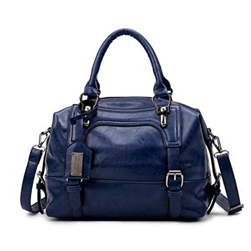 Bleu QZTG Tout Zipper Classiques sac à Sacs Grande main Capacité Browntote À Tout Pour Fourre Bleu Sacs Fourre Noir Femmes Main rpqr8RwH