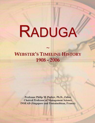 Raduga: Webster's Timeline History, 1908 - 2006