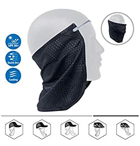 CoolNES Patent Neck or Face Sun Mask | 1 Product 2 Uses | 1 Removable Universal Fit Headband with 1 Flap | Multifunctional Headwear | 4 Season Performance | Caps | Hats | Bike + Ski Helmets UPF 50+