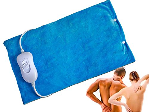 FiNeWaY Electric Heated Pad Thermal Back Neck Body Mat Pain Relief Therapy...