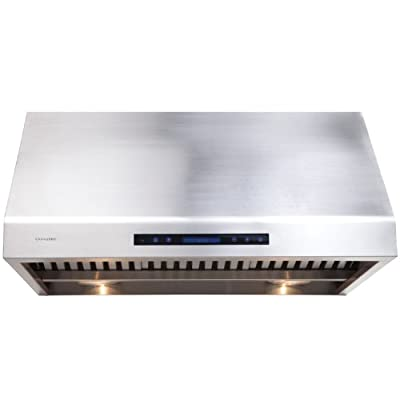 "CAVALIERE 42"" Under Cabinet / Wall Mounted Stainless Steel Kitchen Range Hood w/Remote Control AP238-PS81-42"