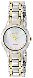 Citizen Eco-Drive Women's EM0284-51N Silhouette Analog Display Two Tone Watch