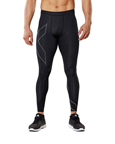 2XU Men's MCS Run Compression Tights, Black/Nero, Small by 2XU (Image #1)