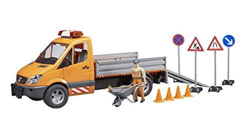 - Bruder MB Sprinter Municipal with L&S Module, Worker + Accessories Vehicles-Toys