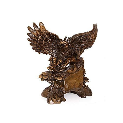 Guyuexuan Sala de estar Estudio Oficina Decoracion de escritorio, Creativo Adornos de Eagle Mostrar simulacion Animal Eagle Artesania Regalos de empresa Cenicero (Color : Brown-33 * 16 * 33cm)