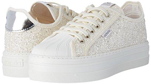 Victoria Deportivo Basket Glitter - Botas Mujer Blanco (Blanco)
