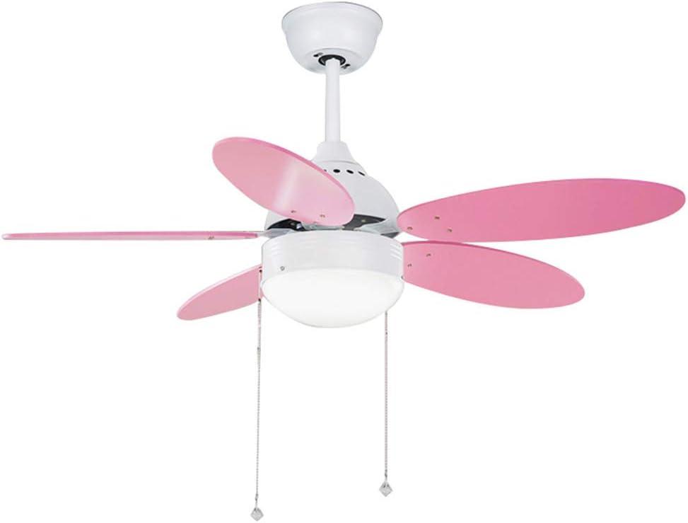 ventiladores de techo con habitación de color rosa luz del ...