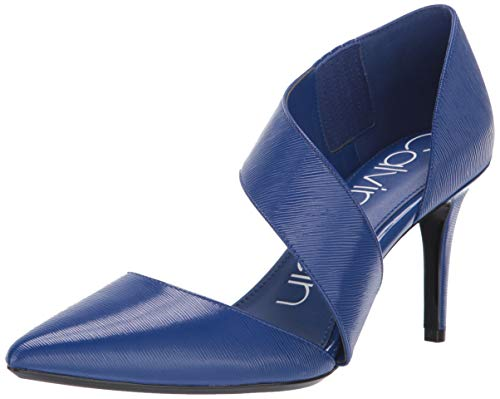 Calvin Klein Women's Gella Dress Pump, Royal Blue Leather, 7 M US