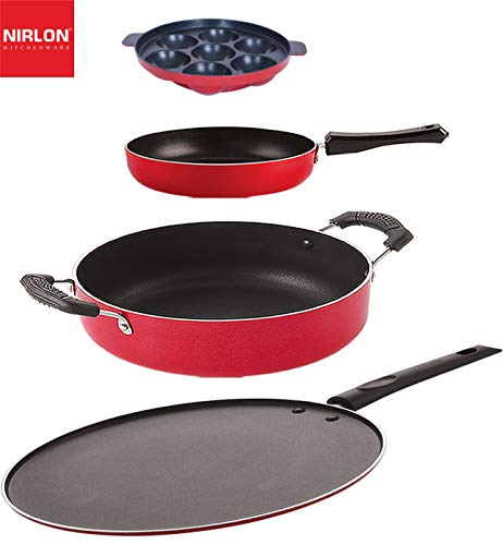 NIRLON Non Stick Aluminium Cookware Gift Set, 3 PiecesFP11_ST12_AP7_CS24