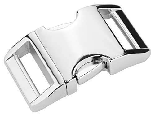 5 - 1 Inch Contoured Aluminum Side Release Buckles ()