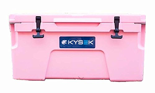 pink cooler with wheels - 3
