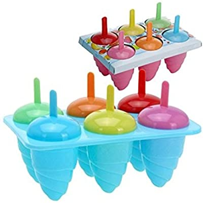 DIY 6 Cell Frozen Ice Lolly Cream Maker Pop Mould Popsicle Yogurt Icebox