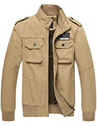 Ubon Men's Casual Fall Thicken Coat Military Windbreaker Jacket