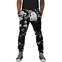 INTO THE AM Black Rose Premium All Over Print Joggers