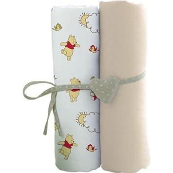 WINNIE Lot de 2 draps housse bébé 60 x 120 cm: Amazon.fr: Cuisine