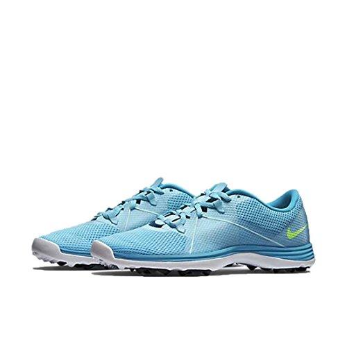 Nike Women's Air Summer Lite II Golf Shoes (Blue/White/Gr...