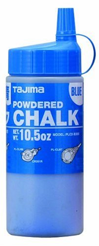 - TAJIMA Micro Chalk - Blue 10.5 oz (300g) Ultra-Fine Snap-Line Chalk with Durable Bottle & Easy-Fill Nozzle - PLC2-B300