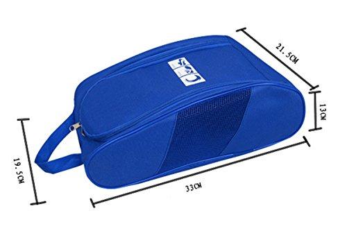 Portable Oxford Travel Shoe Tote Bag, Waterproof Shoe Packing Storage Gym Organizer by Ailaka (Image #5)