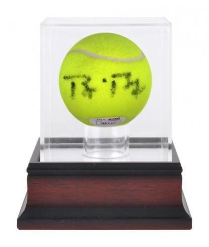- Sports Memorabilia Antique Mahogany Tennis Ball Display Case - Tennis Display Cases