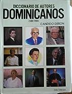 Diccionario de Autores Dominicanos…