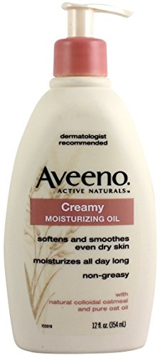 AVEENO Active Naturals Creamy Moisturizing Oil 12 oz (Pack of 5)