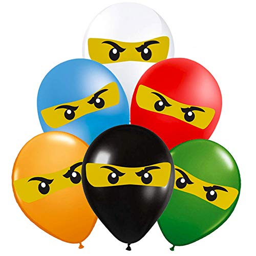 Lego Ninjago Balloons Birthday Party Supplies [42 Balloons]   Ninjago Party Supply Decorations   Ninjago Birthday -