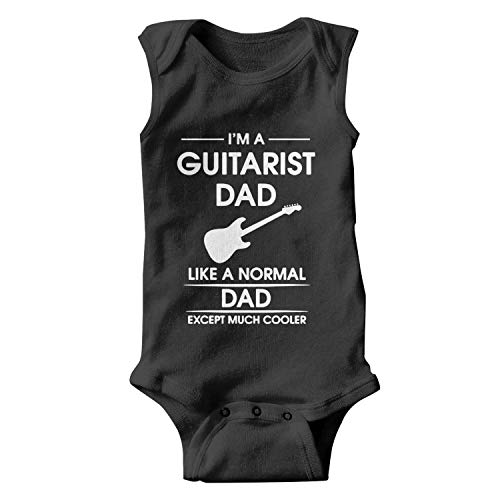 (I'm A Guitarist Dad Guitar Baby Onesies Sleeveless Natural Organic Bodysuit Novelty for Toddler)