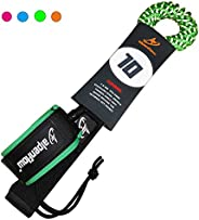 A ALPENFLOW 10' Coiled SUP Leash Stand up Paddle Board Leg Rope 10ft Paddleboard Leg