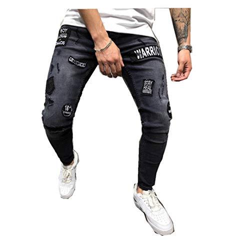 Jeans Slim Fit denim Pantalon en denim en déchiré Itisme en et extensible Pantalon denim et pour skinny déchiré homme ymON80vnw